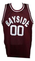 Screech Bayside Saved By The Bell Basketball Jersey New Sewn Maroon Any Size image 4