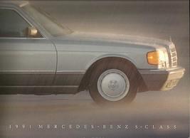 1991 Mercedes-Benz S-CLASS brochure catalog US 500 560 SEL SEC SL - $15.00