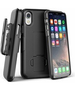 iPhone XR Belt Clip Case DuraClip Series Grip Cover w/Rotating Holster (... - $19.76