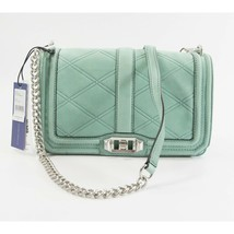 Rebecca Minkoff Dusty Green Nubuck Leather FULL SIZE Love Crossbody Bag NWT - $192.56