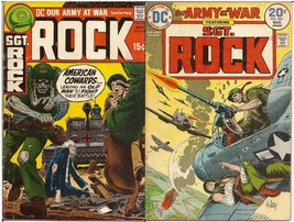 DC Our Army At War Lot Issues #234 & 266 Sgt. Rock Battlefield Action - $4.95
