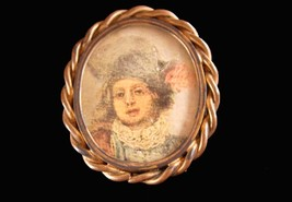 Victorian cameo portrait Brooch - child - little girl - 1800's pin - Lar... - $125.00