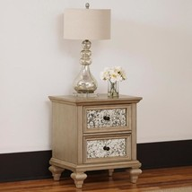 Visions 2-Drawer Silver Gold Champagne Nightstand - $2.939,06 MXN