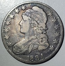 1834 Capped Bust Half Dollar 50¢ Coin Lot# 918-22