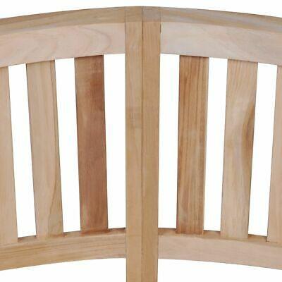 vidaXL Solid Teak Wood Bench Banana Shape 2-Seater Outdoor Garden Chair Seat image 3