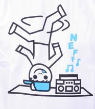 NEFF Men's White Ghetto Blaster 2 Boombox Break Dancing Graphic Tee NWT image 2