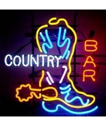 """New Boot Country Bar Light Lamp Beer Neon Sign 24""""x20"""" - $191.66"""