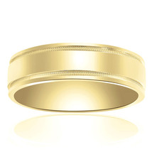 6.0mm 14K Yellow Gold Comfort Fit Wedding Band - $365.31