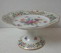 Vintage DRESDEN SCHUMANN RETICULATED Porcelain ... - $48.49