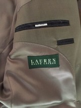 Ralph Lauren Mens 100% Wool Suit 44 Lord & Taylor Olive image 2