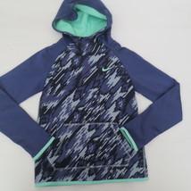 Nike Girls Therma Hoodie Sweatshirt - 903742 - Blue Purple 508 - Size S - NWT - $18.99