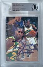 Gary Payton Signed 1995-1996 NBA Fleer Flair Basketball Card Beckett BAS... - $96.99