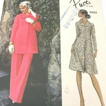 Vintage Vogue Couturier Design Emilio Pucci 2443 Sewing Pattern Dress Tunic PT2 - $24.95