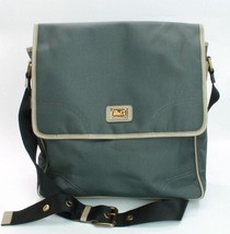 D&G Dolce Gabbana Large Dark Green/ Brown Nylon Laptop Messenger Bag RRP... - $256.29
