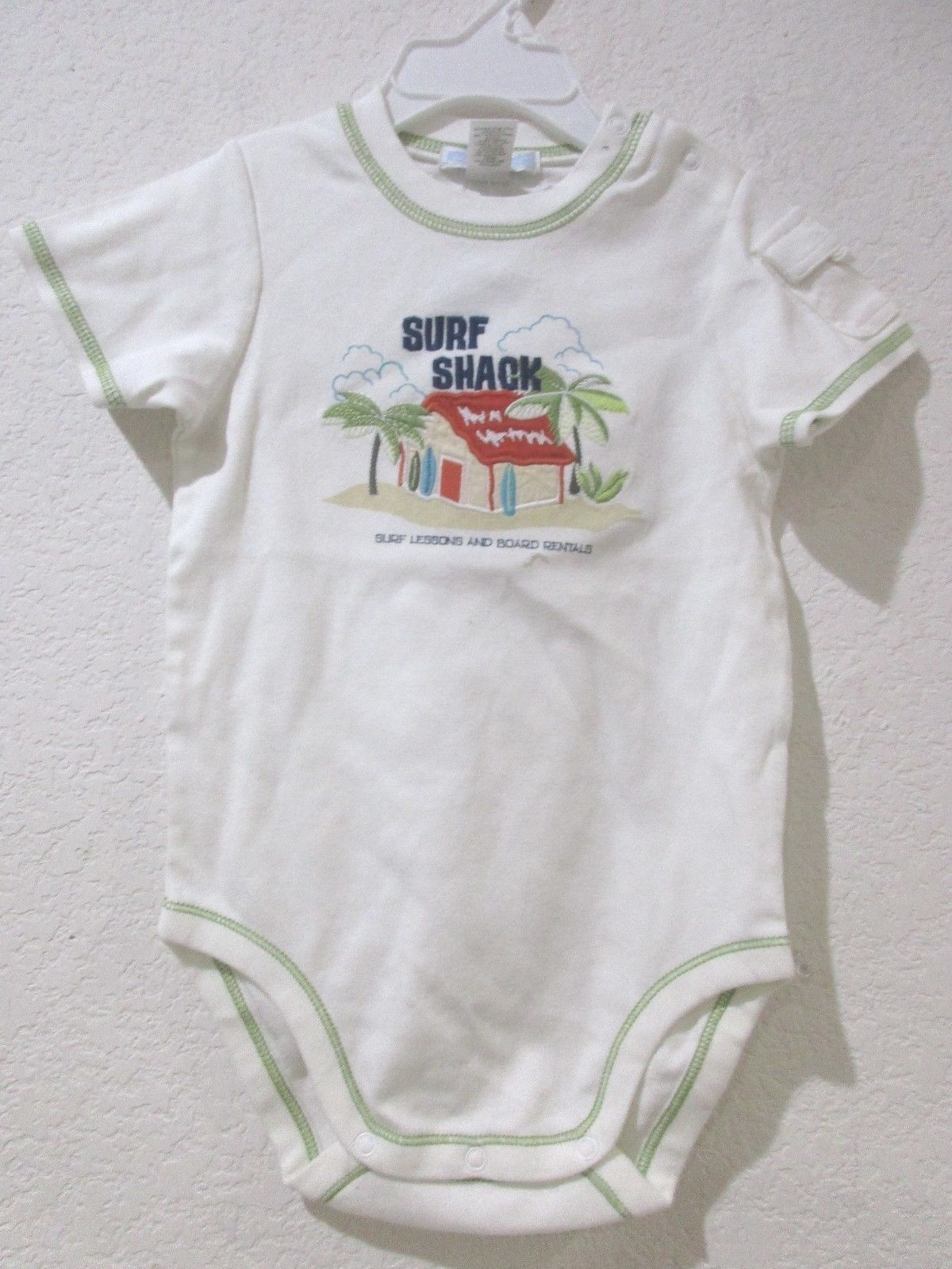 0f3f6dc81ee9 NWT Janie and Jack Boys SURF SHACK White Bodysuit Size 2T -  19.99