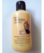 Philosophy Vanilla Birthday Cake 3 in 1 Shampoo Shower Gel Bubble Bath 6 oz - $8.95