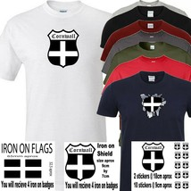 Cornwall t shirt iron on badge or stickers - $8.79+