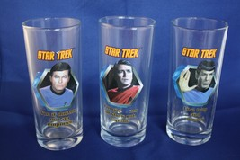 Set of 3 Star Trek Glasses (Damage to the Lette... - $10.39