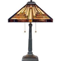 Quoizel TF885T Stephen 2-Light Table Lamp, Vintage Bronze - $241.56