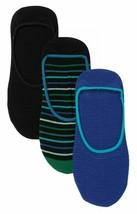 3 Pair Pack Hue Women's Striped & Solid High Cut Liner Socks Royal Blue Pack image 1
