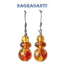 Nagrasanti SS Citrine/Amber Dangle Earrings - €26,88 EUR