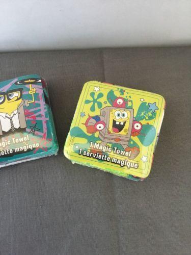 Set of 2 New embroidered Spongebob Squarepants washcloths