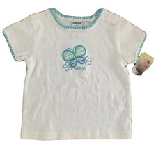 Vintage Oshkosh Shirt Size 12 Months Butterfly And Flowers NWT - $9.49
