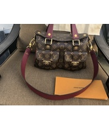 Louis Vuitton Manhattan PM w/Bordeaux leather - $2,300.00
