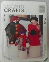 Mc Call's Crafts Pattern #P400 ***Snowman Greeters*** - $12.25