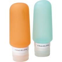 NEW TRAVELON GO TUBES TRAVEL BOTTLES FOR 3 OUNCE LIQUIDS SET OF 2 MULTI - $13.81