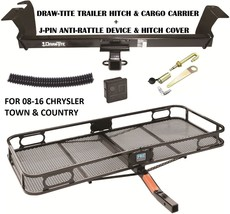 08-16 Chrysler Town & Country Trailer Hitch + Cargo Basket Carrier + Silent Pin - $345.26