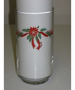 Tienshan Fairfield Poinsettia & Ribbons Cooler Glasses Tumblers by Libbe... - $58.99