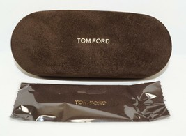 NEW AUTH TOM FORD SMALL SUEDE BROWN SUNGLASSES EYEGLASSES CASE w/CLOTH - $16.82