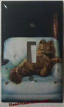 Lazy Garfield Cat Light Switch Outlet single double wall Cover Plate Home Decor image 1