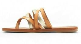 NEW Universal Thread Women's Tan Gold Maritza Multi Strap Toe Slide Sandals  image 2
