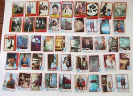 Lot of 46 SUPERMAN Movie Trading Cards Vintage Topps Bubblegum 1978-1980 I & II - $28.61