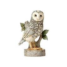 Enesco Jim Shore Heartwood Creek White Woodland Owl On Branch Stone Resi... - $31.53