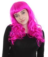 Joker Girl Wig | Long Curly Party Ready Fancy Cosplay Neon Purple Wig HW... - $29.85