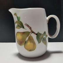 Royal Worcester Evesham Gold Porcelain Creamer 10 oz Peach Pear - $18.69
