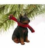 Doberman Pinscher Miniature Dog Ornament - Red - $11.78