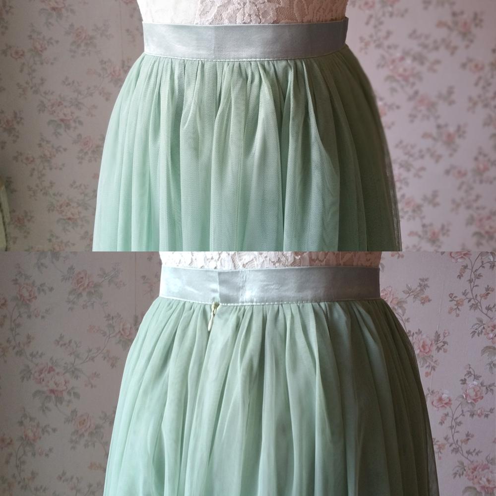 SAGE GREEN Long Maxi Tulle Skirt Full Length Sage Green Wedding Bridesmaid Skirt