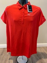 95934d61 NWT Nike Women's 5 Button Golf Polo V Foundation All Sizes Red