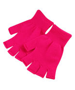Rose Red 2 Pair Unisex Soft Half Finger Gloves Warm Knitted Mittens Fing... - $14.00