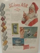 Vintage Print Advertisement Ad ASR Lighter 1949 Christmas Santa Claus Ci... - $26.13