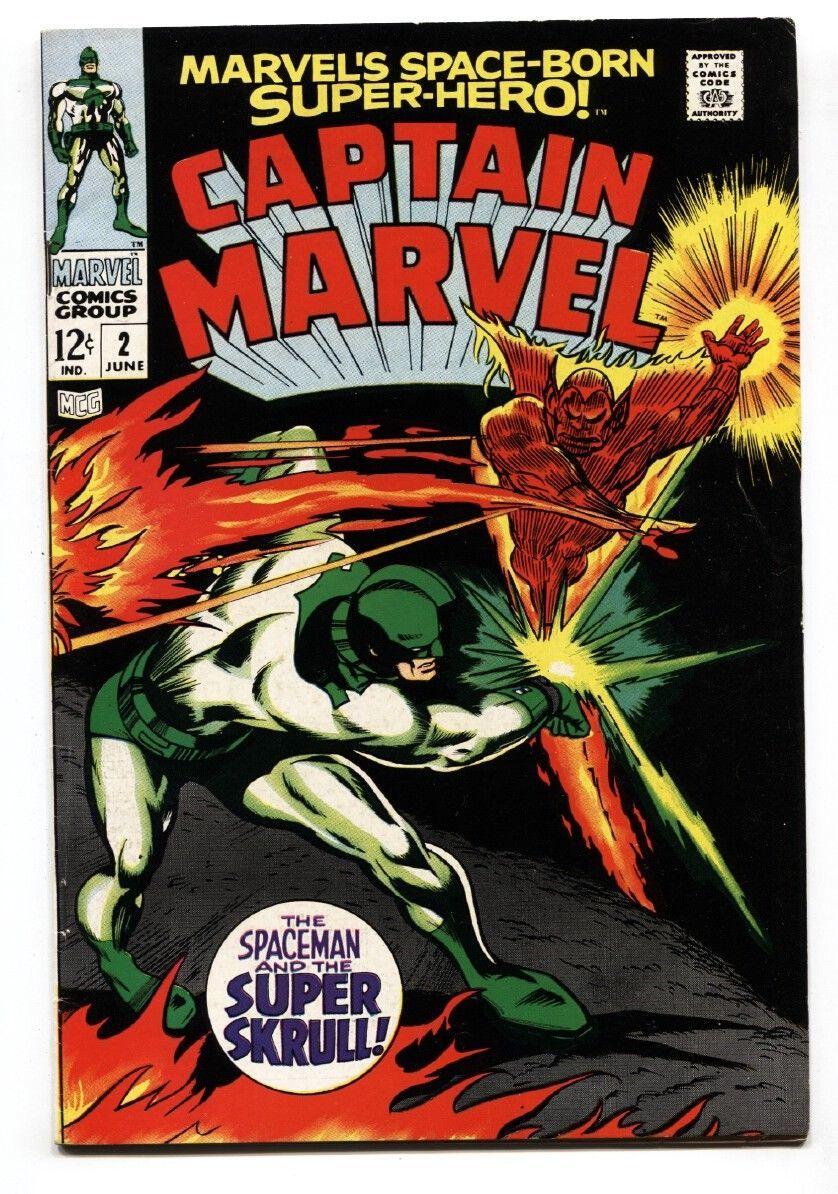 CAPTAIN MARVEL #2 1968-SUPER SKRULL- MARVEL COMICS VF - $81.97