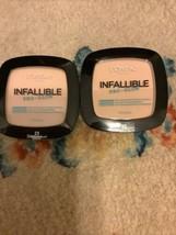 Lot of 2 L'Oreal Infallible Pro Glow Longwear Pressed Powder 23 Nude Beige - $10.79