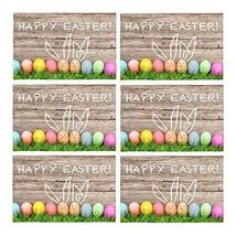 InterestPrint Happy Easter Decoration Easter Eggs and Cute Bunny Fabric ... - $39.59