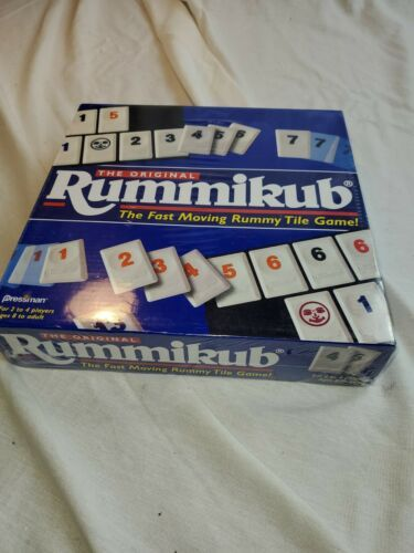 Primary image for Original 1997 Rummikub The Fast Moving Rummy Tile Game Pressman BRAND NEW/SEALED