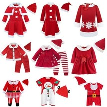 Toddler Baby Girls Boys Christmas Santa Claus Outfits +Hat Costume Xmas ... - $17.99