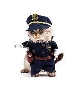 Policeman Pet Costume Style Dog Jeans Clothes Cat Funny Apparel Gomaomi - £10.99 GBP